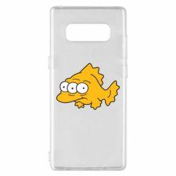 Чехол для Samsung Note 8 Simpsons three eyed fish