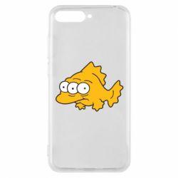 Чехол для Huawei Y6 2018 Simpsons three eyed fish - FatLine