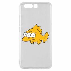 Чехол для Huawei P10 Simpsons three eyed fish - FatLine