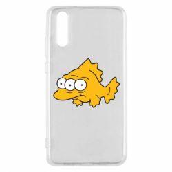 Чехол для Huawei P20 Simpsons three eyed fish - FatLine