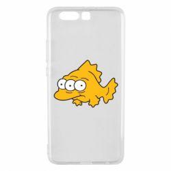 Чехол для Huawei P10 Plus Simpsons three eyed fish - FatLine