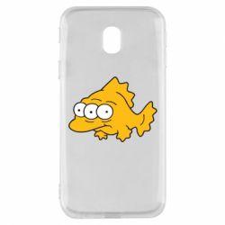 Чехол для Samsung J3 2017 Simpsons three eyed fish - FatLine