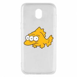 Чехол для Samsung J5 2017 Simpsons three eyed fish