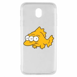 Чехол для Samsung J7 2017 Simpsons three eyed fish - FatLine
