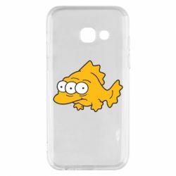 Чехол для Samsung A3 2017 Simpsons three eyed fish - FatLine