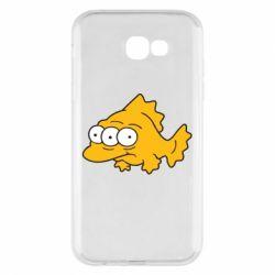 Чехол для Samsung A7 2017 Simpsons three eyed fish - FatLine