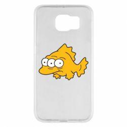 Чехол для Samsung S6 Simpsons three eyed fish - FatLine
