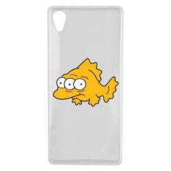 Чехол для Sony Xperia X Simpsons three eyed fish - FatLine