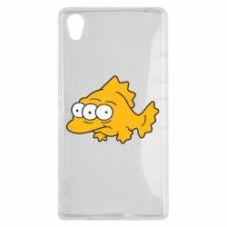 Чехол для Sony Xperia Z1 Simpsons three eyed fish - FatLine
