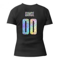 Женская футболка с V-образным вырезом Since голограмма