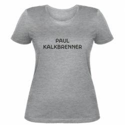 Женская футболка Singer Paul Kalkbrenner