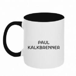 Кружка двоколірна 320ml Singer Paul Kalkbrenner