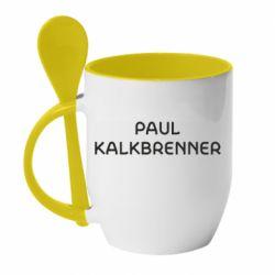 Кружка с керамической ложкой Singer Paul Kalkbrenner