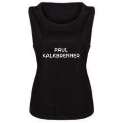 Женская майка Singer Paul Kalkbrenner