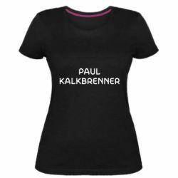 Женская стрейчевая футболка Singer Paul Kalkbrenner