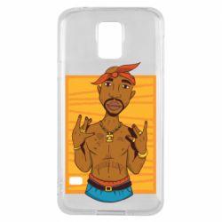 Чохол для Samsung S5 Singer Tupac Shakur