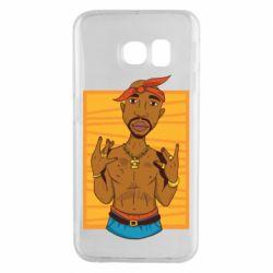 Чохол для Samsung S6 EDGE Singer Tupac Shakur