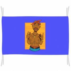 Прапор Singer Tupac Shakur
