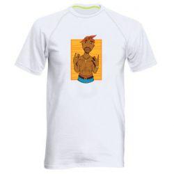Чоловіча спортивна футболка Singer Tupac Shakur