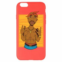 Чохол для iPhone 6 Plus/6S Plus Singer Tupac Shakur
