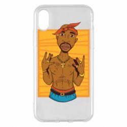 Чохол для iPhone X/Xs Singer Tupac Shakur