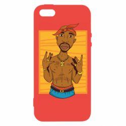 Чохол для iphone 5/5S/SE Singer Tupac Shakur