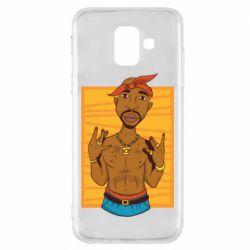 Чохол для Samsung A6 2018 Singer Tupac Shakur