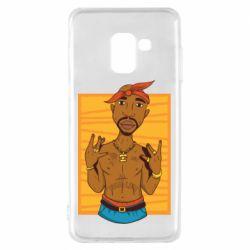 Чохол для Samsung A8 2018 Singer Tupac Shakur