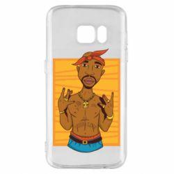 Чохол для Samsung S7 Singer Tupac Shakur