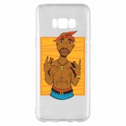 Чохол для Samsung S8+ Singer Tupac Shakur
