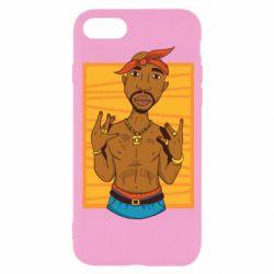 Чохол для iPhone 8 Singer Tupac Shakur