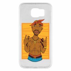 Чохол для Samsung S6 Singer Tupac Shakur