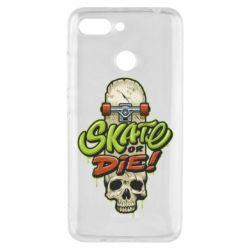 Чохол для Xiaomi Redmi 6 Skate or die skull - FatLine