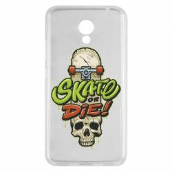 Чохол для Meizu M5c Skate or die skull - FatLine