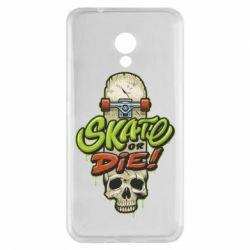 Чохол для Meizu M5s Skate or die skull - FatLine