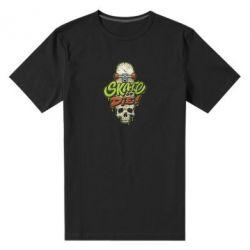 Чоловіча стрейчева футболка Skate or die skull