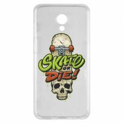 Чохол для Meizu M6s Skate or die skull - FatLine