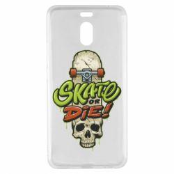 Чохол для Meizu M6 Note Skate or die skull - FatLine