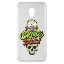 Чохол для Meizu Pro 6 Plus Skate or die skull - FatLine