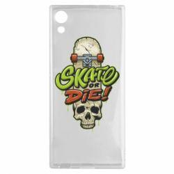 Чохол для Sony Xperia XA1 Skate or die skull - FatLine