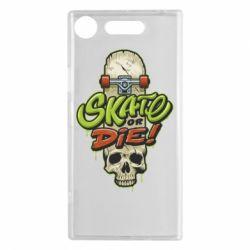 Чохол для Sony Xperia XZ1 Skate or die skull - FatLine