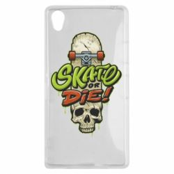 Чохол для Sony Xperia Z1 Skate or die skull - FatLine