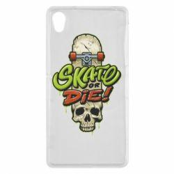 Чохол для Sony Xperia Z2 Skate or die skull - FatLine