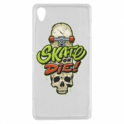 Чохол для Sony Xperia Z3 Skate or die skull - FatLine