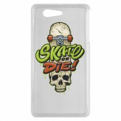 Чохол для Sony Xperia Z3 mini Skate or die skull - FatLine
