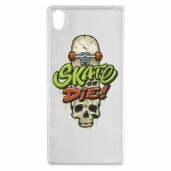 Чохол для Sony Xperia Z5 Skate or die skull - FatLine