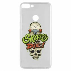 Чохол для Huawei P Smart Skate or die skull - FatLine