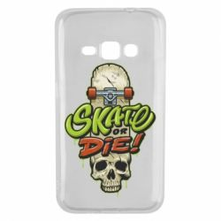 Чохол для Samsung J1 2016 Skate or die skull