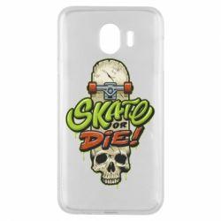Чохол для Samsung J4 Skate or die skull