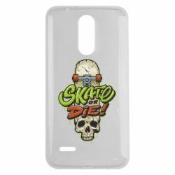 Чохол для LG K7 2017 Skate or die skull - FatLine